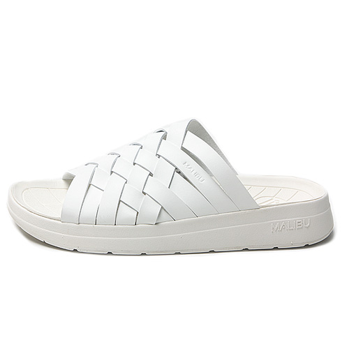 "Malibu Sandals  (Women's / Men's) ZUMA Pu Leather ""White"""