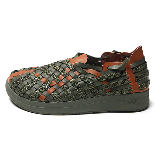 "Malibu Sandals X Missoni Men's LATIGO ""Olive&Whiskey"""