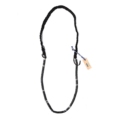 "MIKIA Snake Beads Necklace ""Painted Black/SV"""