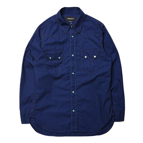"EASTLOGUE Railroad Shirt ""Indigo Plain"""