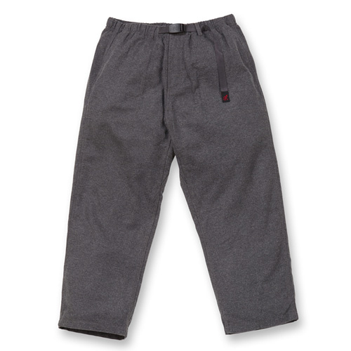"GRAMICCI Wool Loose Tapered Pants ""Heather Charcoal"""
