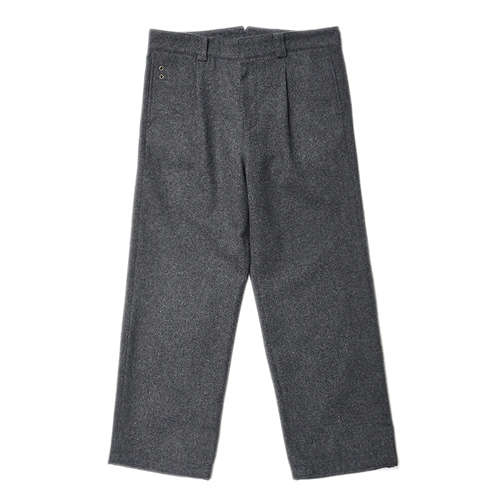 "Qlad Museum Quiet Wool Calm Pants ""Charcoal Grey"""