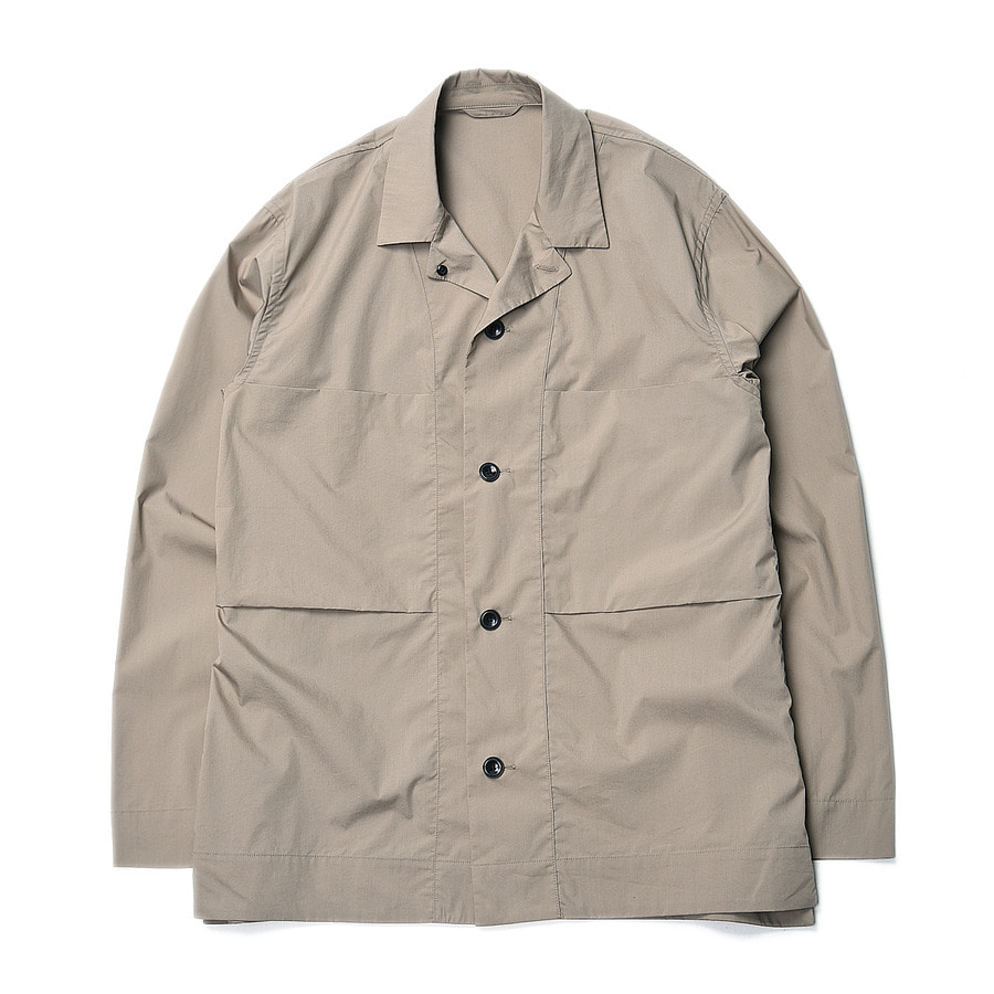 "Still by Hand C/Pe Shirts Jacket ""Beige"""