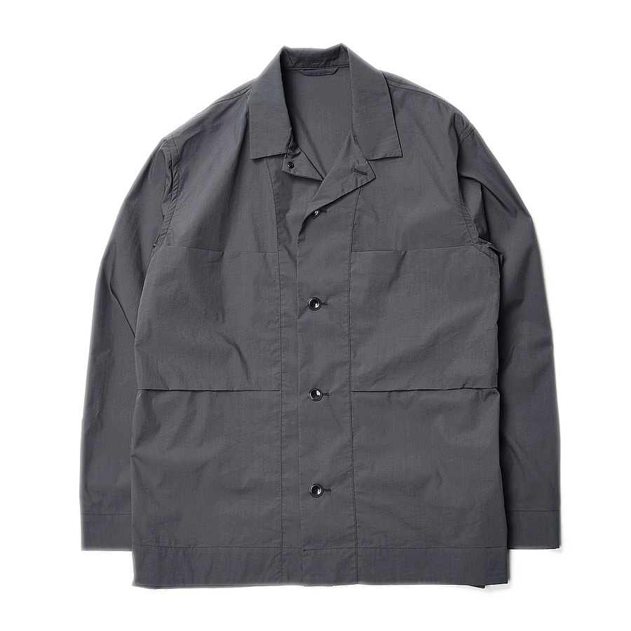 "Still by Hand C/Pe Shirts Jacket ""Charcoal"""