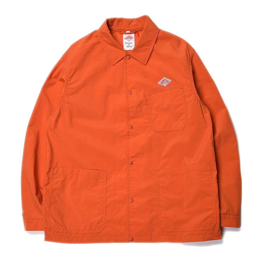 "DANTON #JD-8882 Nylon Taffeta Coach Jacket ""Orange"""