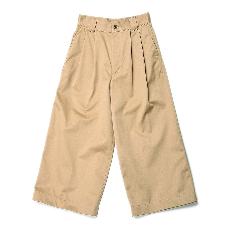 "DANTON #JD-2573 2Tuck Pants ""Beige"" (Women's)"
