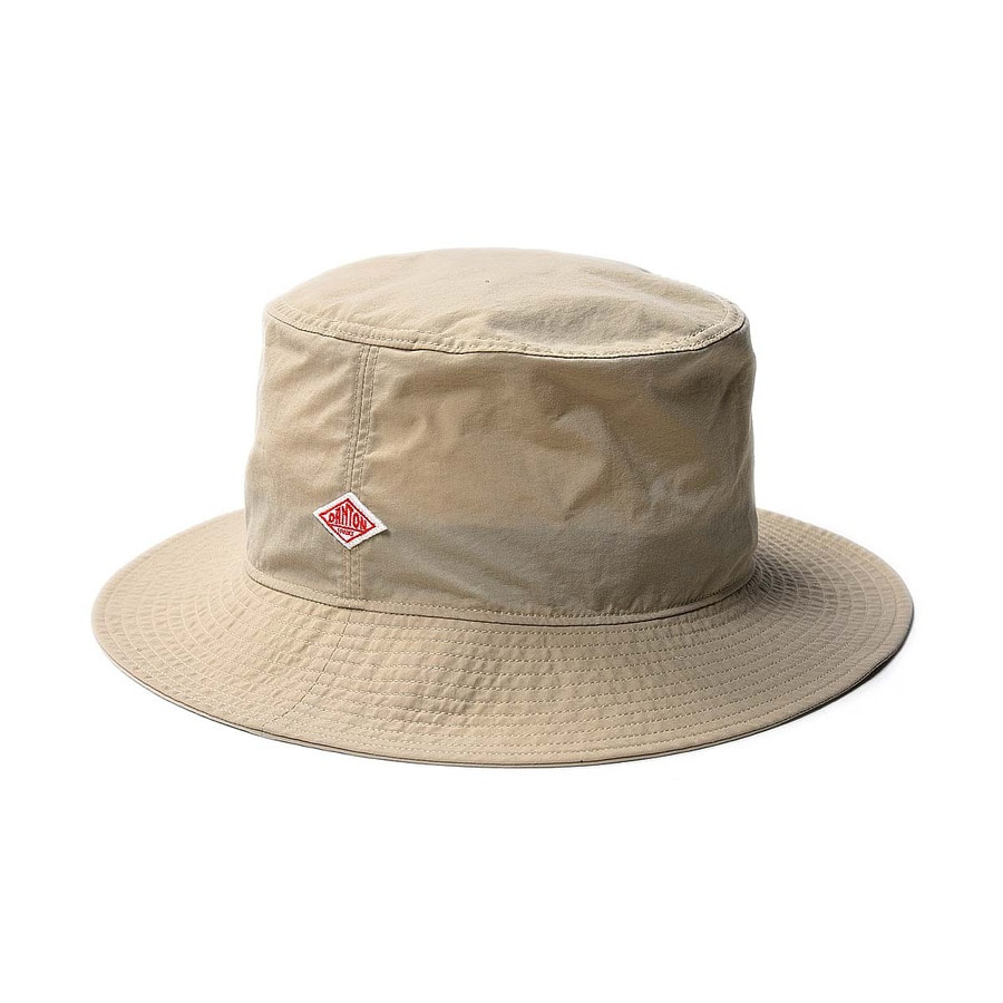 "DANTON #JD-7145 Pocketable Nylon Taffeta Hat ""Sand Beige"""
