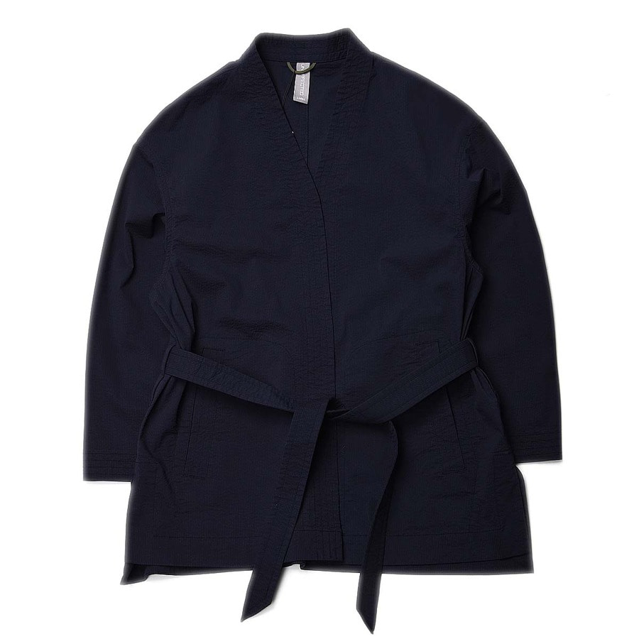 "Unaffected Dobok Jacket ""Navy Seersucker"""
