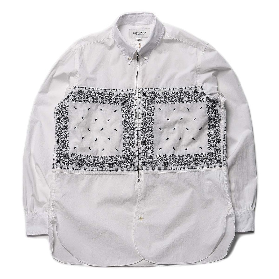 "East Logue Regular B.D Zip Shirt ""Navy Needle Point"""