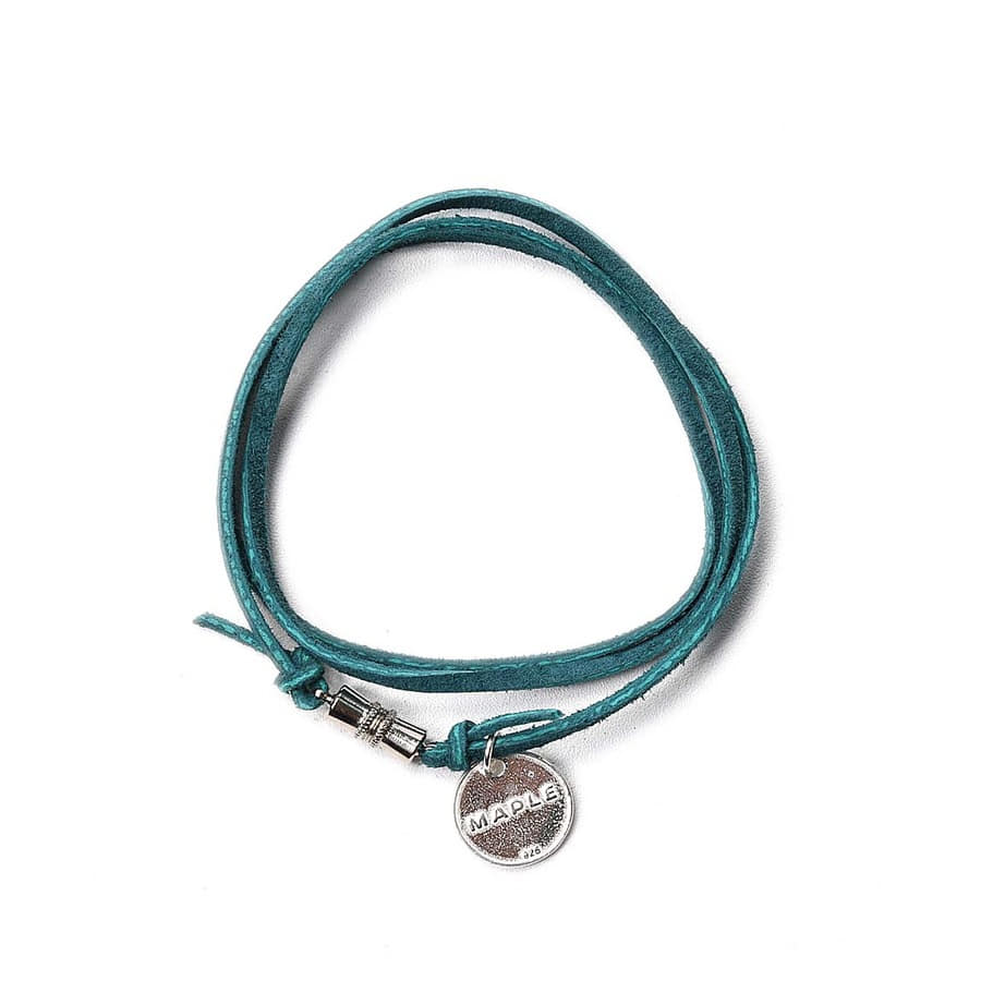 "MAPLE Suede Wrap Bracelet ""Green"""