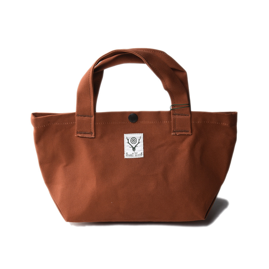"SOUTH2 WEST8 Mini Tote (Cotton Canvas / Paraffin Coating) ""Brown"""