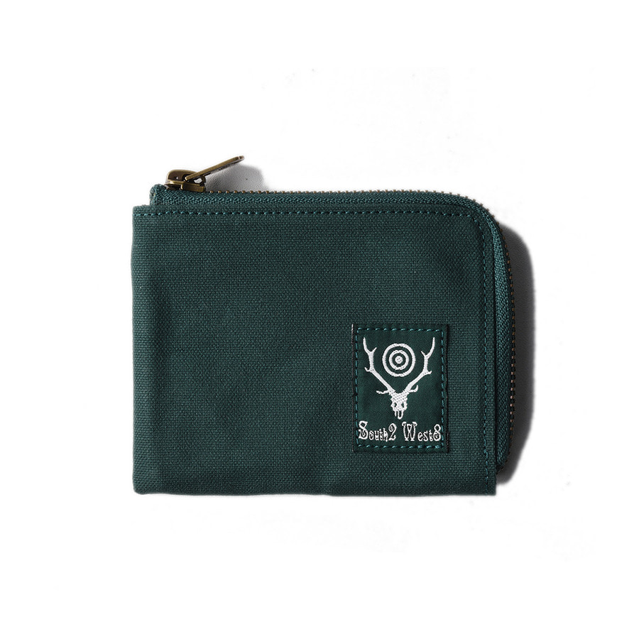 "SOUTH2 WEST8 Coin Case (Cotton Canvas / Paraffin Coating) ""Green"""