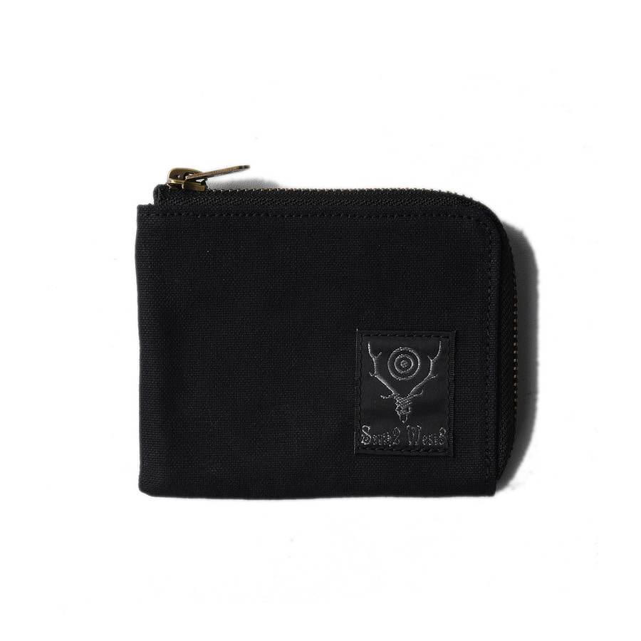"SOUTH2 WEST8 Coin Case (Cotton Canvas / Paraffin Coating) ""Black"""
