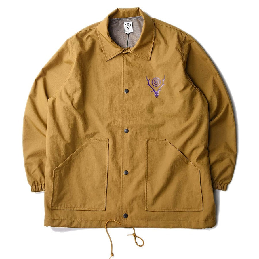"South2 West8 Coach Jacket Nylon Oxford / Acrylic Coating ""Camel"""