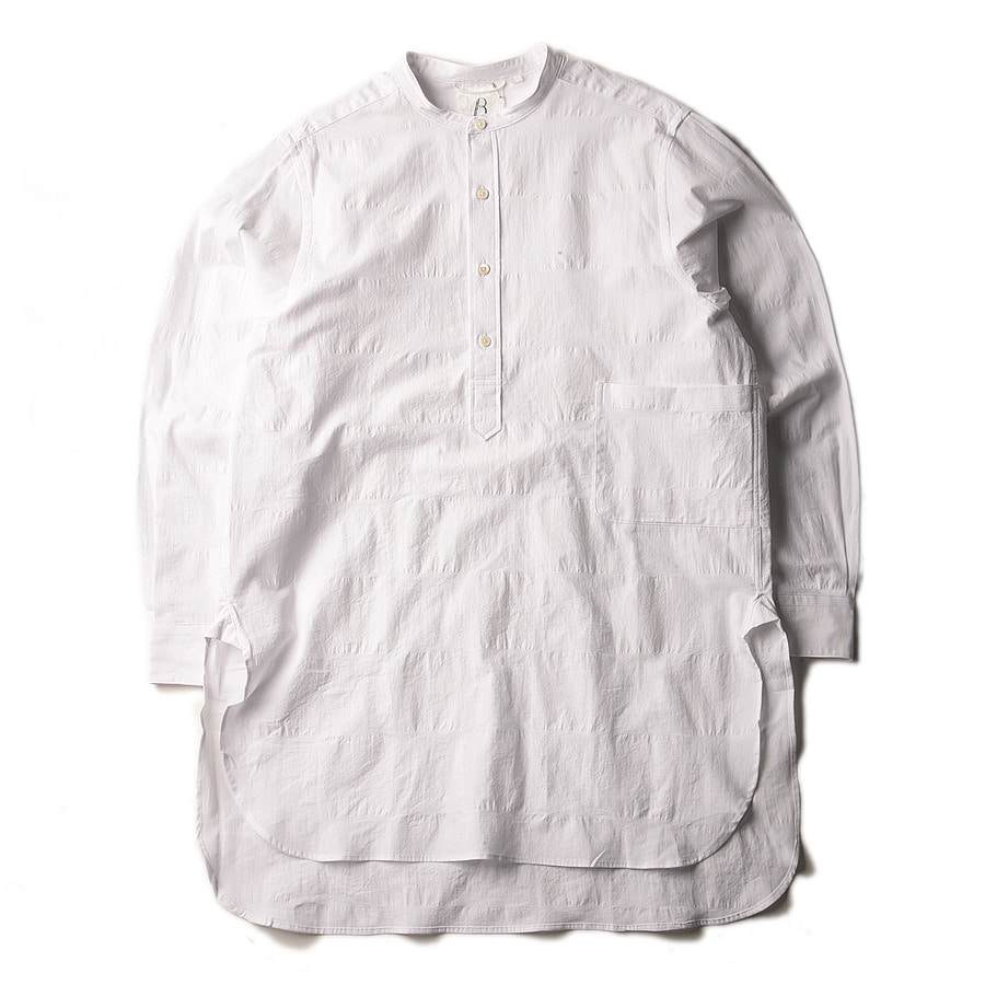 "BROWNYARD Tunic Shirt ""White Cross Check"""