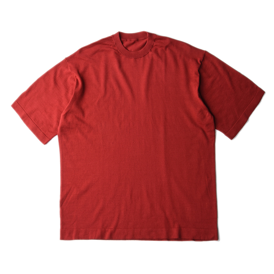 "CREPUSCULE Knit Tee S/S ""Red"""
