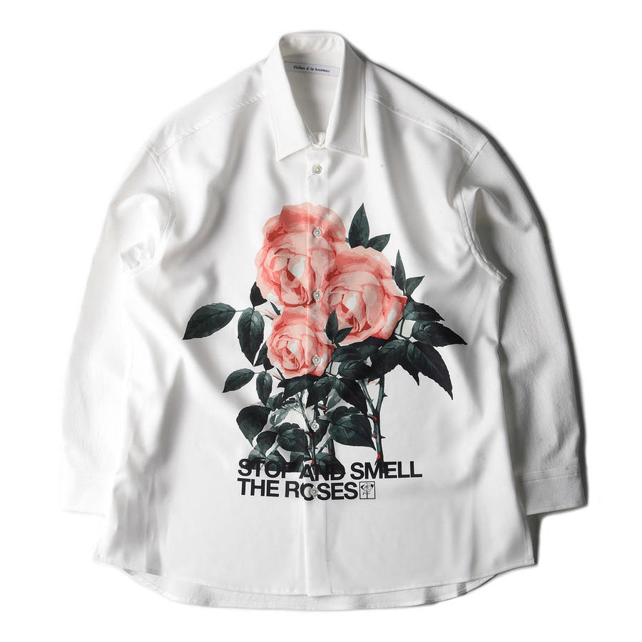 "CHILDREN OF THE DISCORDANCE Sastr Rose Print Shirt ""Rose Pink"""