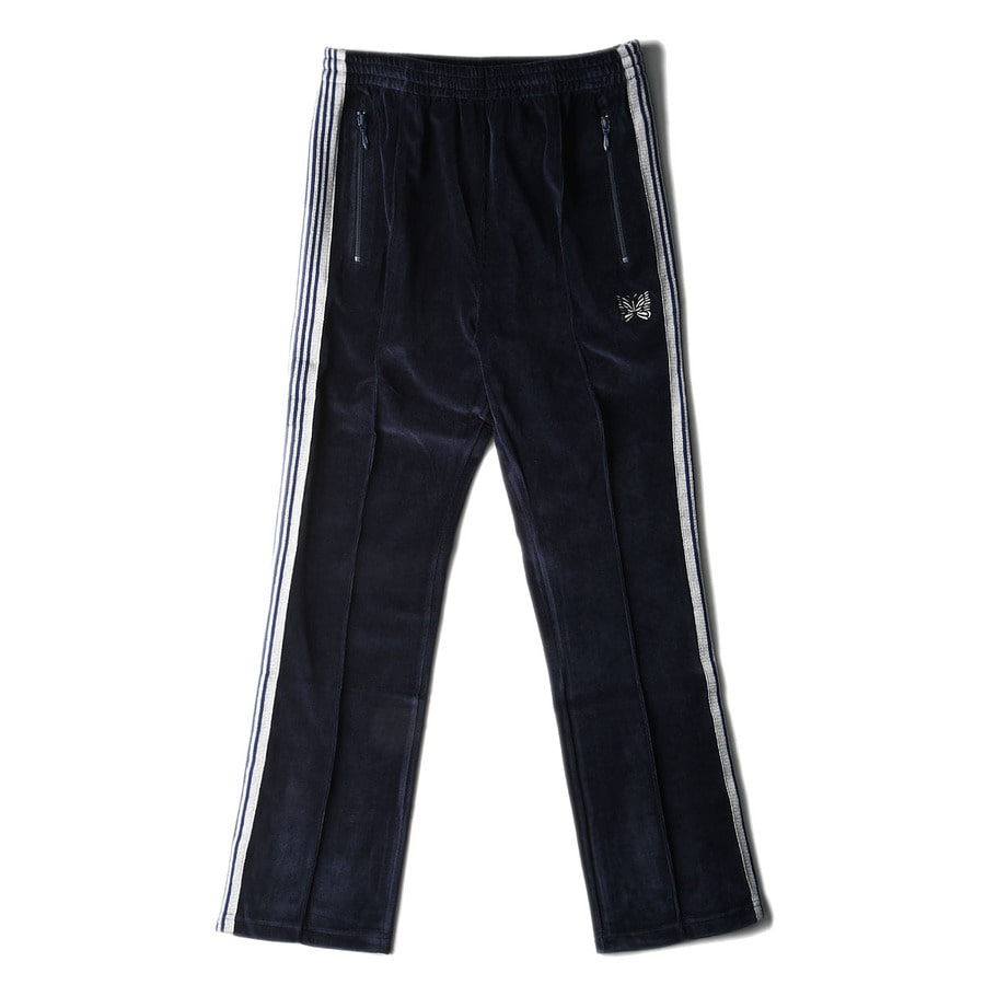 "NEEDLES Narrow Track Pant C/Pe Velour ""Navy"""