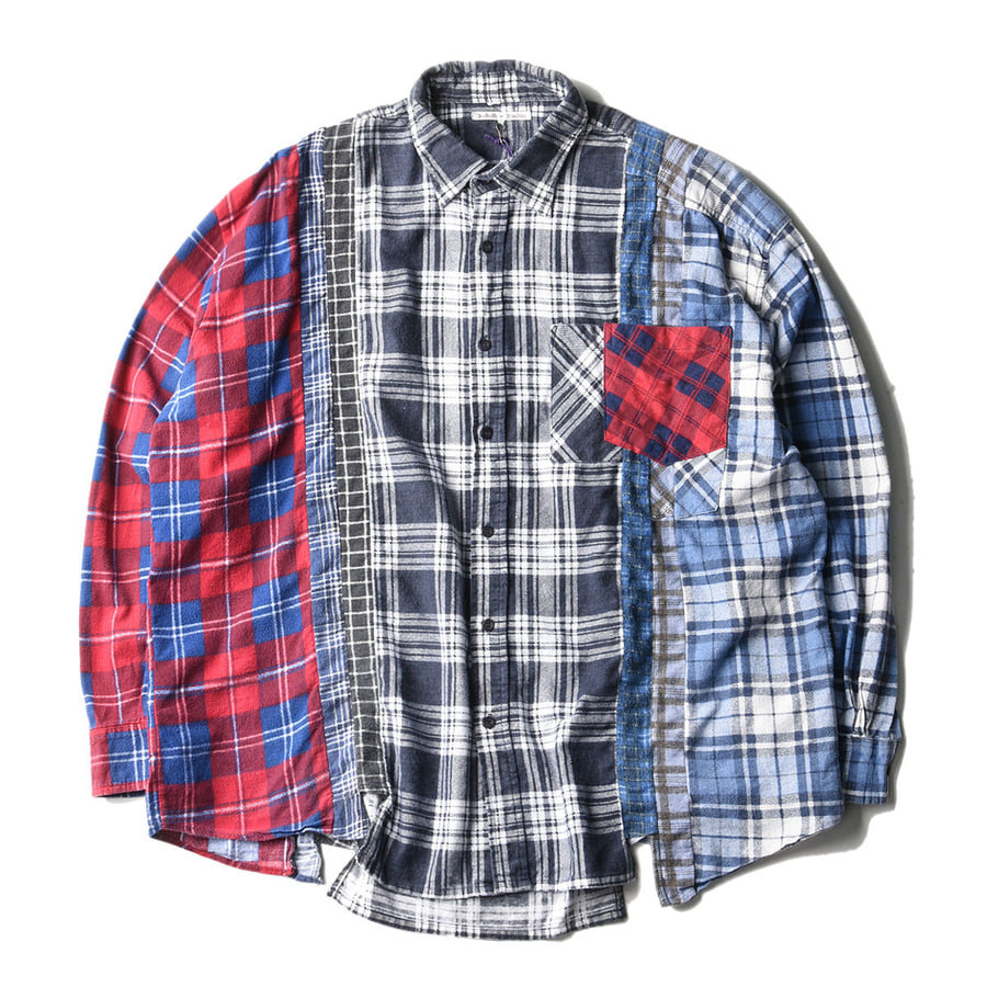 "NEEDLES Rebuild by Needles Flannel Wide 7 Cuts  Shirts ""A"""