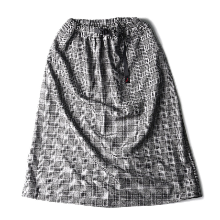 "GRAMICCI Wool Blend Long Flare Skirt ""Glen Check"""