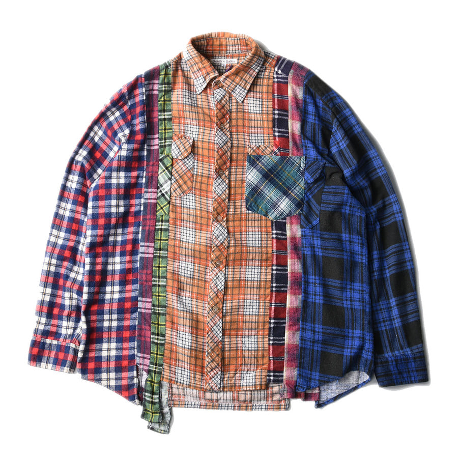 "NEEDLES Rebuild by Needles Flannel 7 Cuts  Shirts ""L-9"""