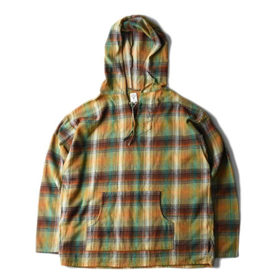 "SOUTH2 WEST8 Mexican parka Cotton Twill / Plaid ""Olive"""