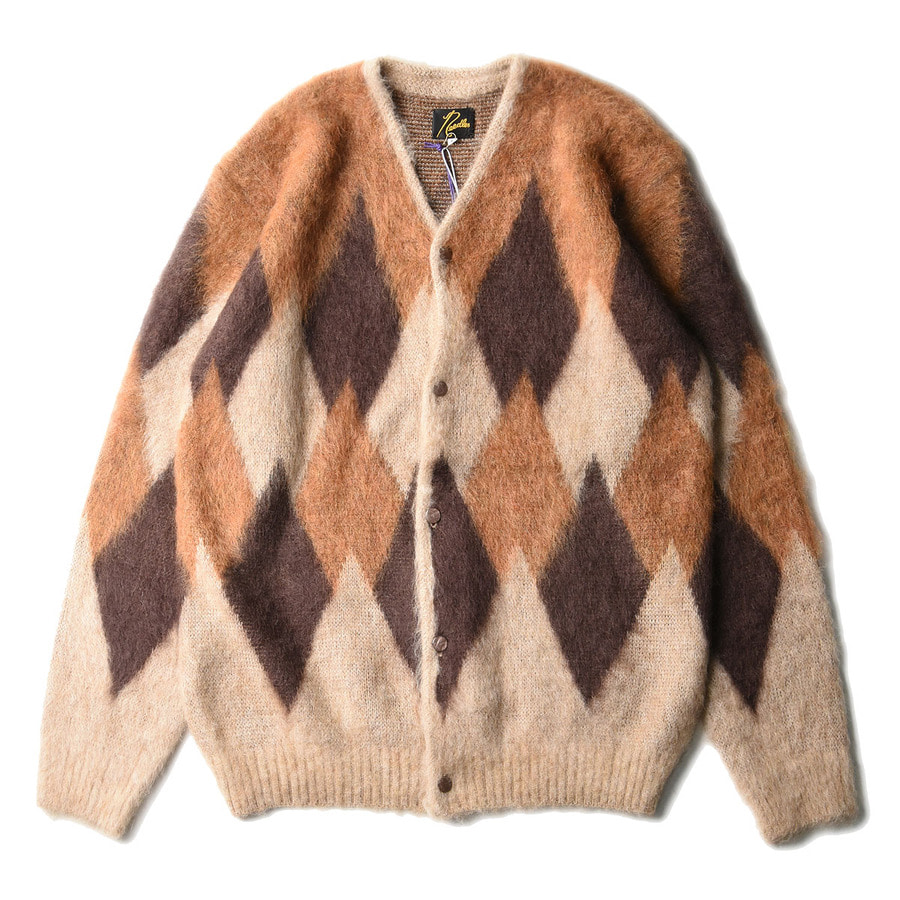 "NEEDLES Mohair Cardigan Diamond ""Beige"""
