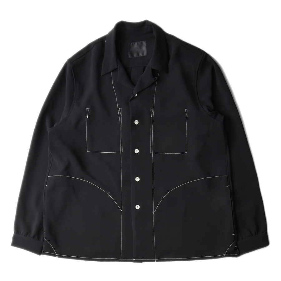 "BUKHT New Open Collar Shirts ""Black"""