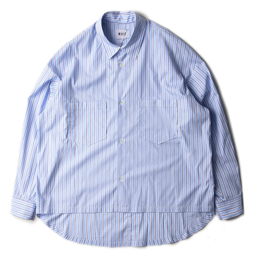 "KIIT Stripe SHirts ""Sax x White"""