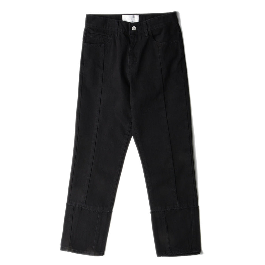 "GAKURO Tapered Denim Pants ""Black"""