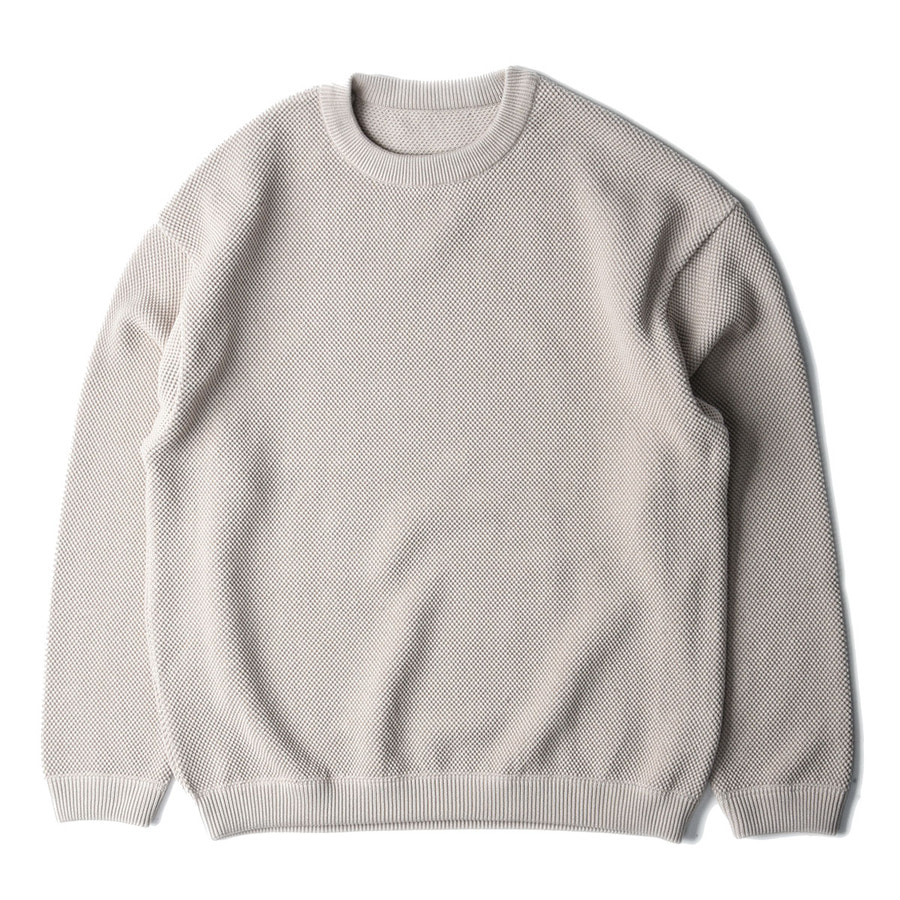 "CREPUSCULE Moss Stitch L/S Sweat ""Beige"""