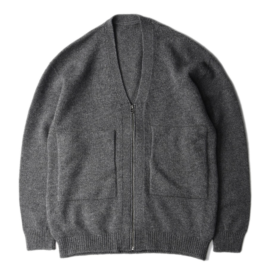 "CREPUSCULE Wholegarment Zip Cardigan ""C.Gray"""