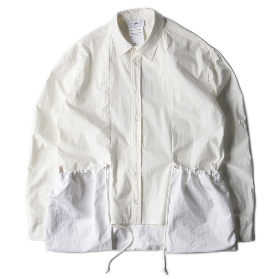 "POST ARCHIVE FACTION Side Pocket Shirt ""White"""