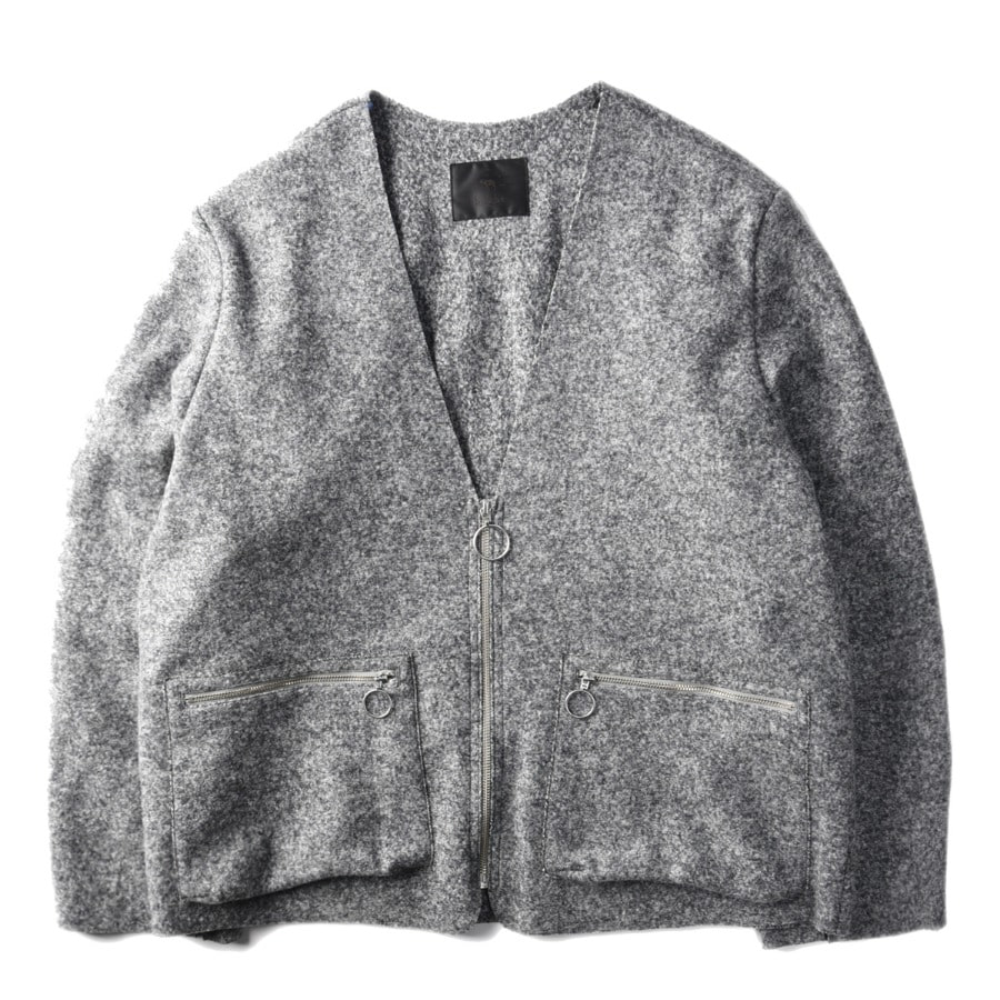 "BUKHT Milling Wool Jacket ""Ash Gray"""