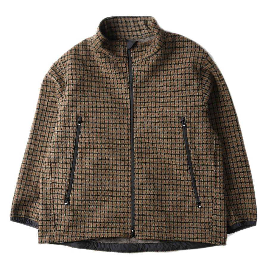 "SOUTH2 WEST8 Outing Jacket W/N Tweed / Fur Lining ""Houndstooth"""