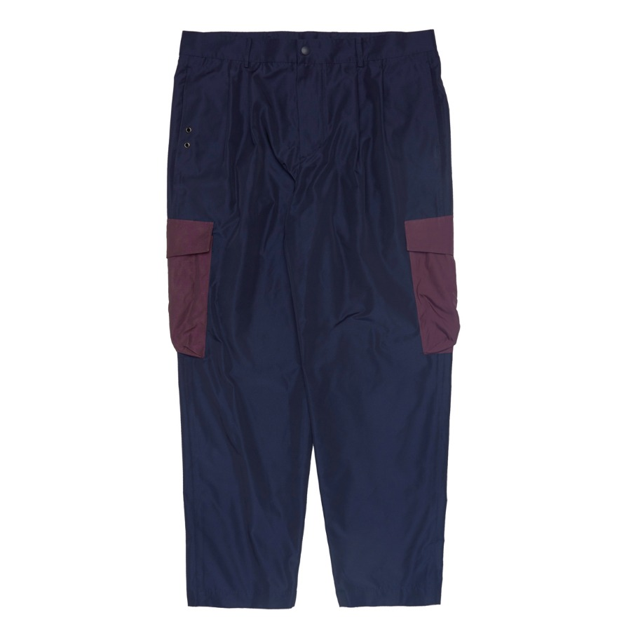 "QLAD MUSEUM Pleated Cargo Pants ""Navy"""