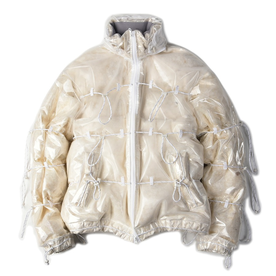 "POST ARCHIVE FACTION [L] String Down Jacket ""Transparent"""