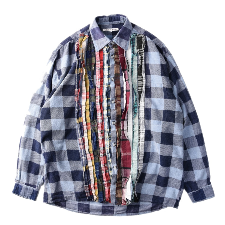 "NEEDLES Rebuild by Needles Flannel Shirt L size ""B"""