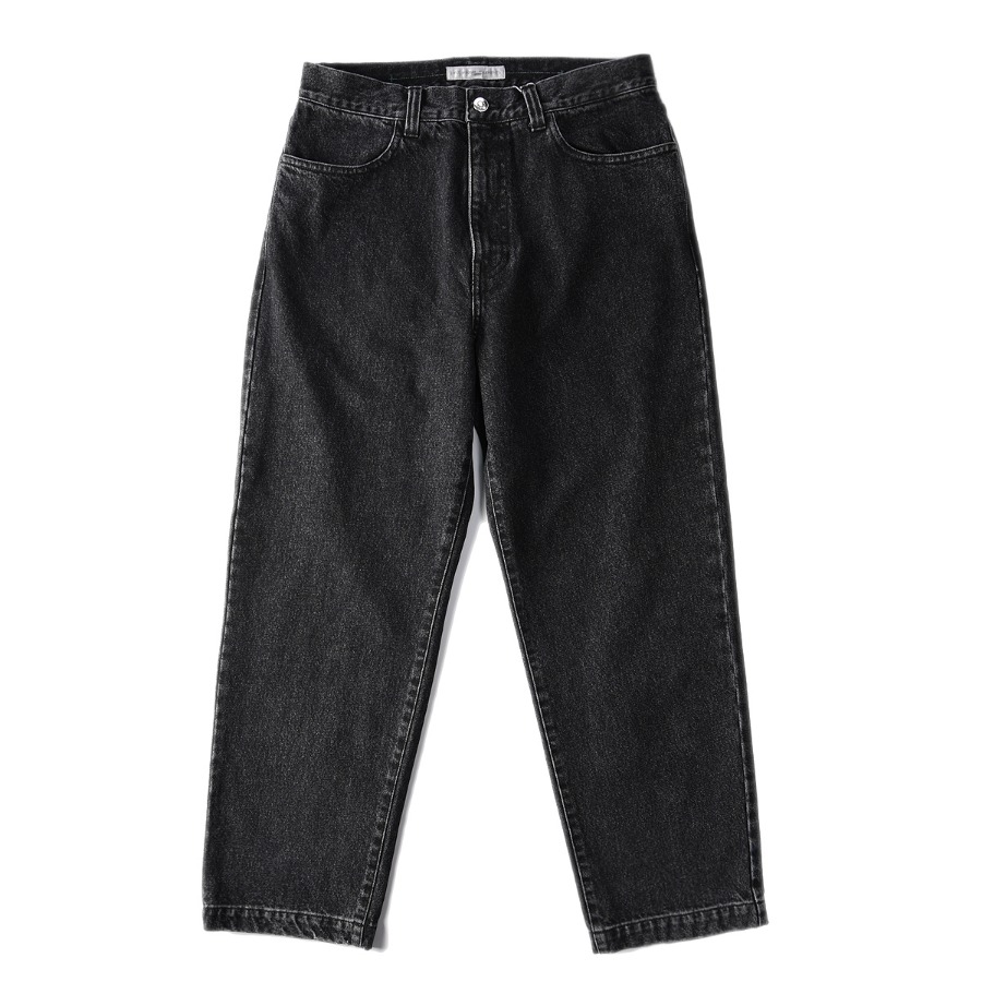 "LIFUL Washed Denim Pants ""Black"""