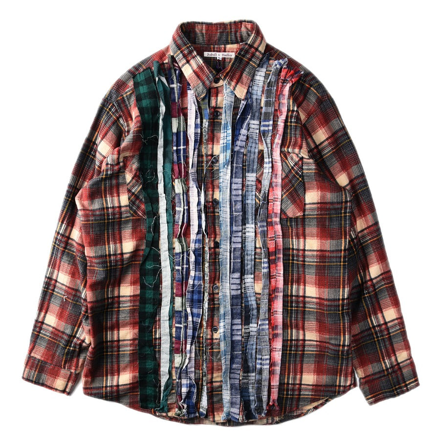 "NEEDLES Rebuild by Needles Flannel Shirt L size ""M"""