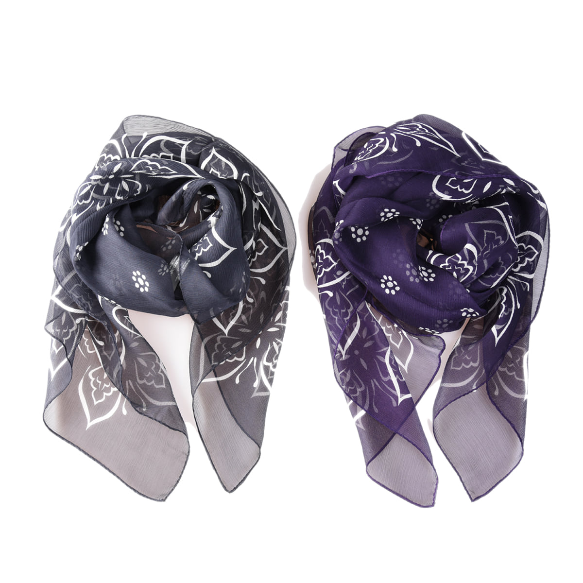 NEEDLES Papillon Silk Crepe Scarf (2color)