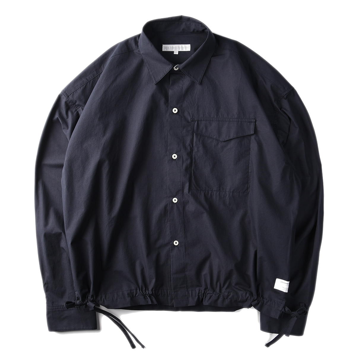 "LIFUL Side String Pocket Shirt ""Navy"""
