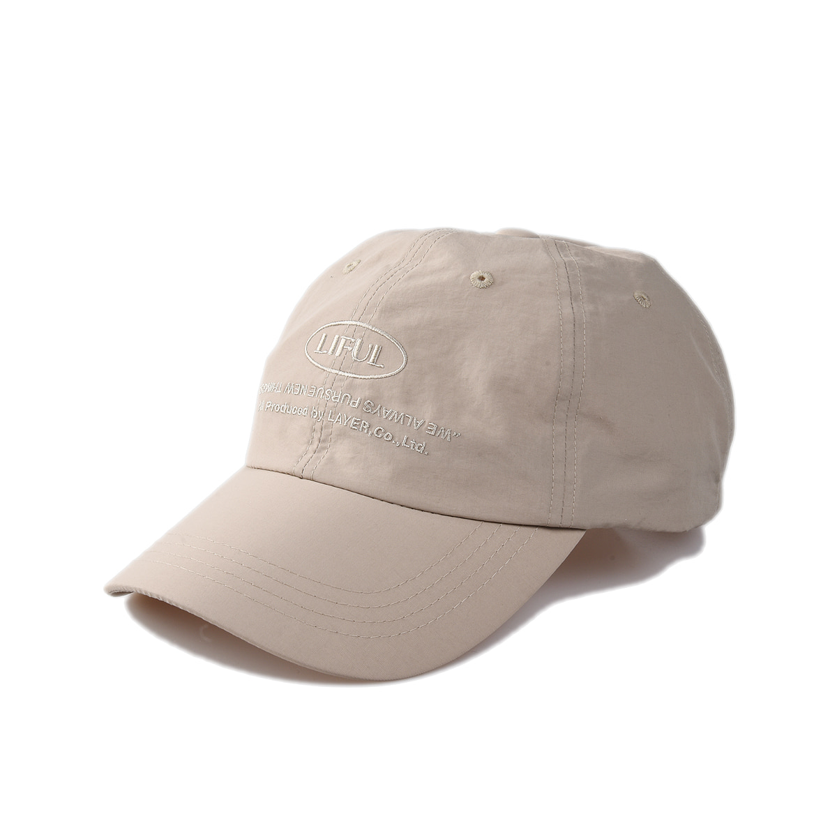 "LIFUL Comfort 6 Panel Cap ""Beige"""