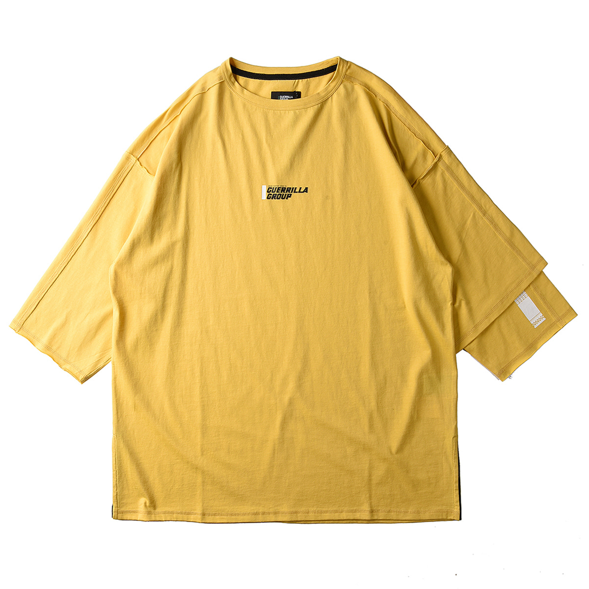 "GUERRILLA GROUP Road Fighter Asym L/S Tee ""Mustard Yellow"""