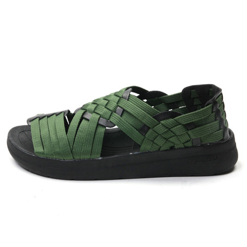 "Malibu Sandals (Women's / Men's) CANYON Nylon Webbing ""Pesto"""