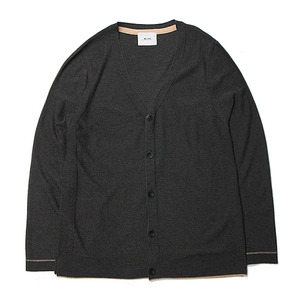 "Blev Route Coli Whole Garment Cardigan ""Charcoal"""