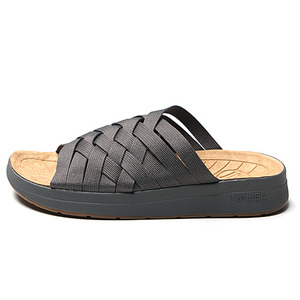 "Malibu Sandals  (Women's / Men's) ZUMA Nylon / PU Suede  ""Grey/Tan"""