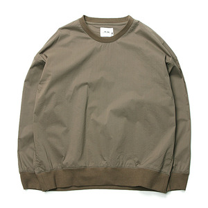 "Blev Route Mic Wash Round Shirt-T ""Khaki"""
