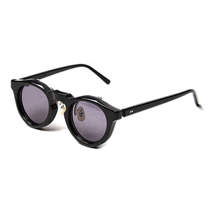 "KAPTAIN SUNSHINE x KANEKO OPTICAL 'Charles' Sunglasses ""Black&Gray Lens"""