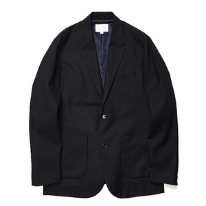"Still by Hand Multi Fabric Wool jacket ""Navy"""
